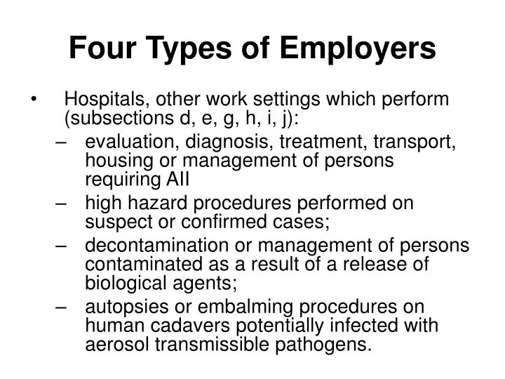 Four Types of Employers