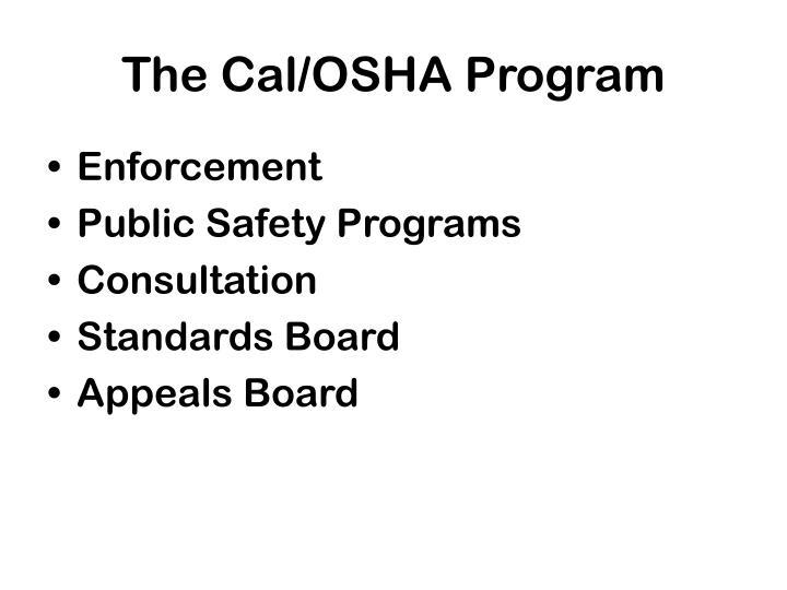 The cal osha program