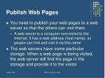 publish web pages