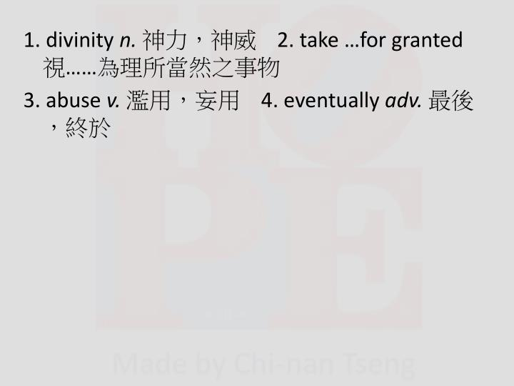 1. divinity