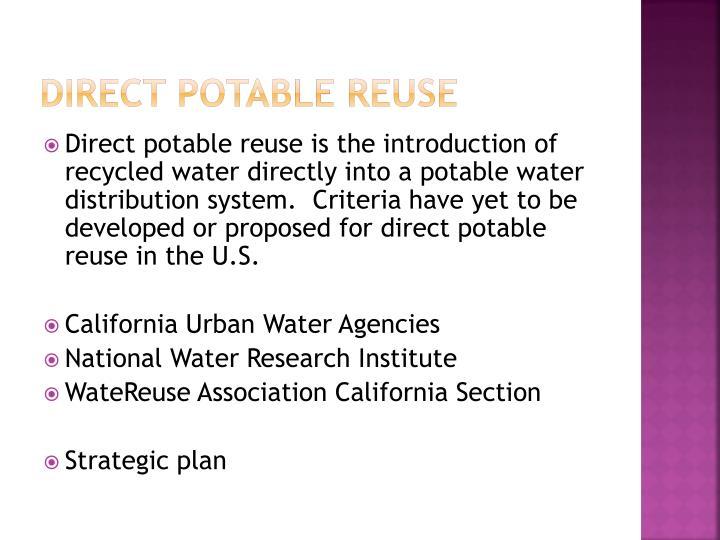 Direct Potable Reuse