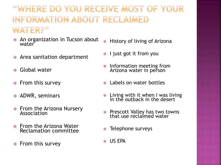 An organization in Tucson about water