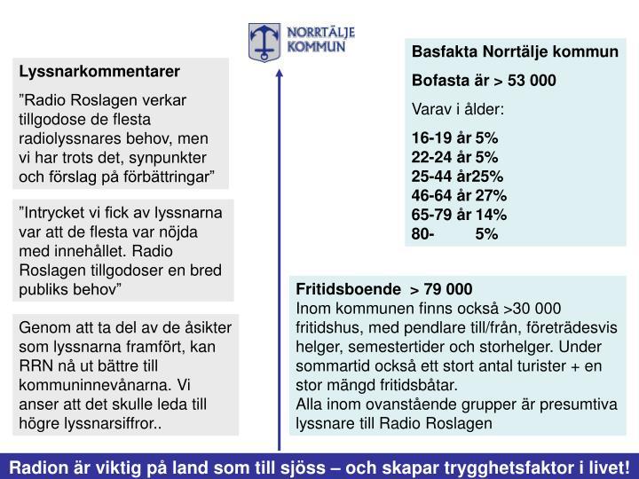 Basfakta Norrtälje kommun