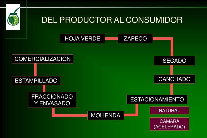 DEL PRODUCTOR AL CONSUMIDOR
