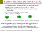 cognitive and semantic forms cf sf