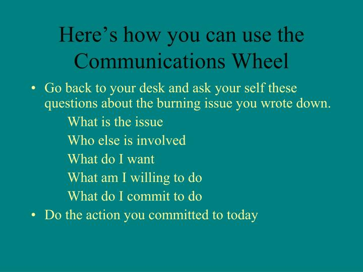 Here's how you can use the Communications Wheel