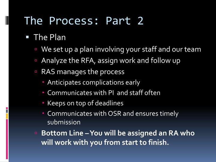 The Process: Part 2