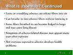 what is asbestos continued