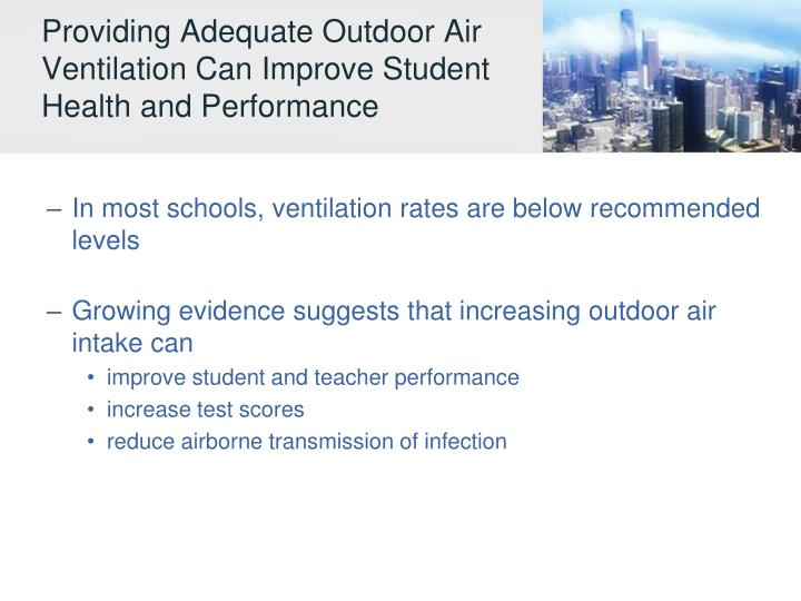 Providing Adequate Outdoor Air