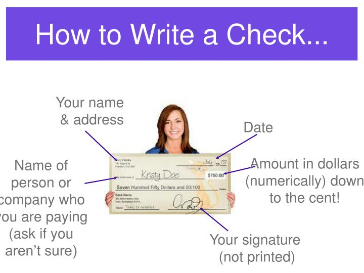 How to Write a Check...