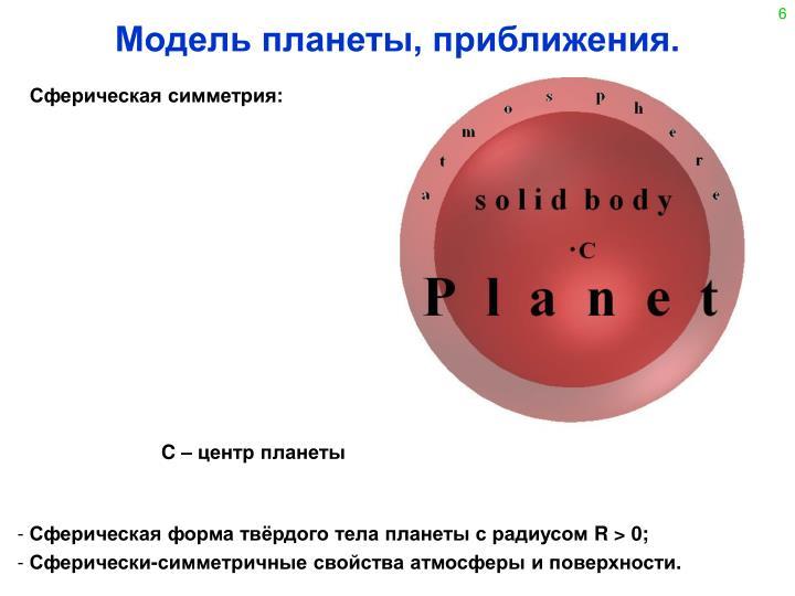 Сферическая симметрия: