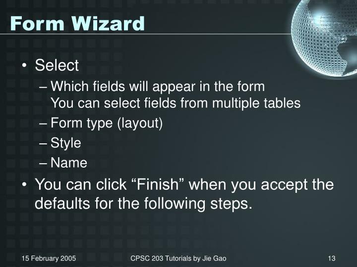 Form Wizard