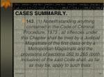 power of court to try cases summarily