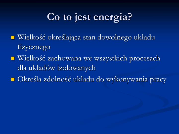 Co to jest energia?