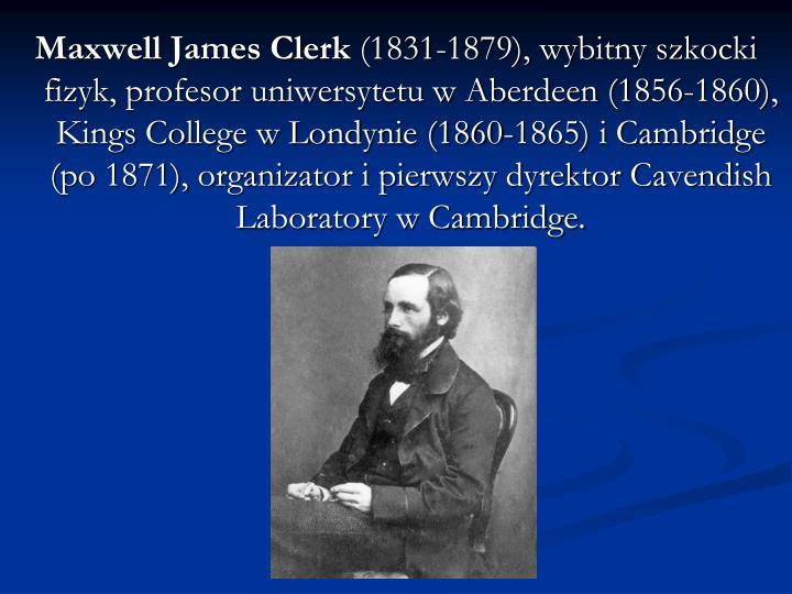 Maxwell James Clerk