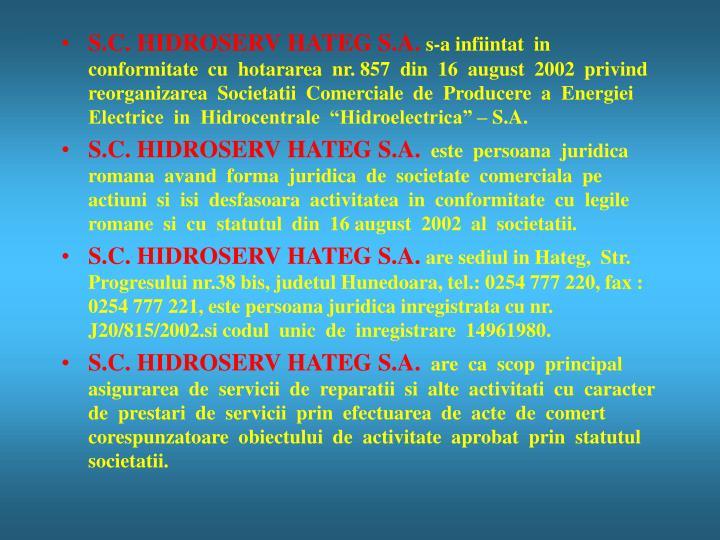 S.C. HIDROSERV