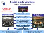 rendes jogalkot si elj r s ordinary legislative procedure