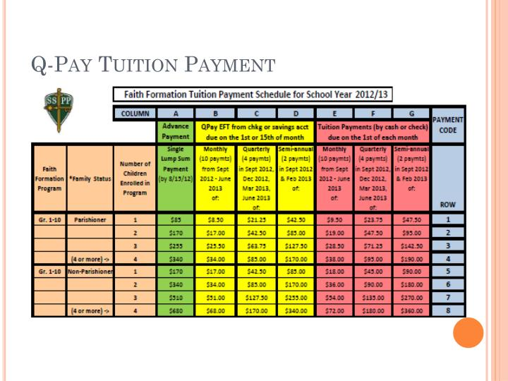 Q-Pay Tuition Payment