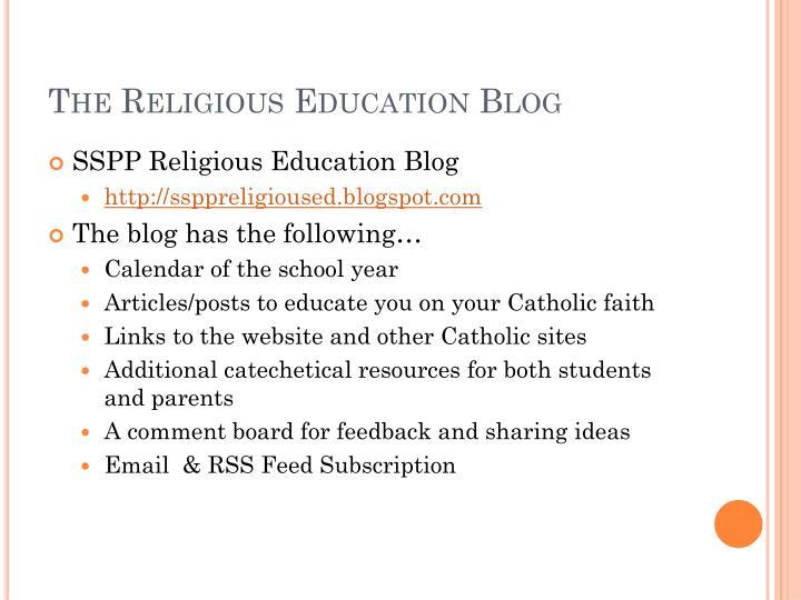 The Religious Education Blog