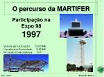 participa o na expo 98 1997