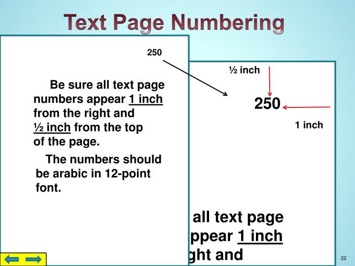 Text Page Numbering
