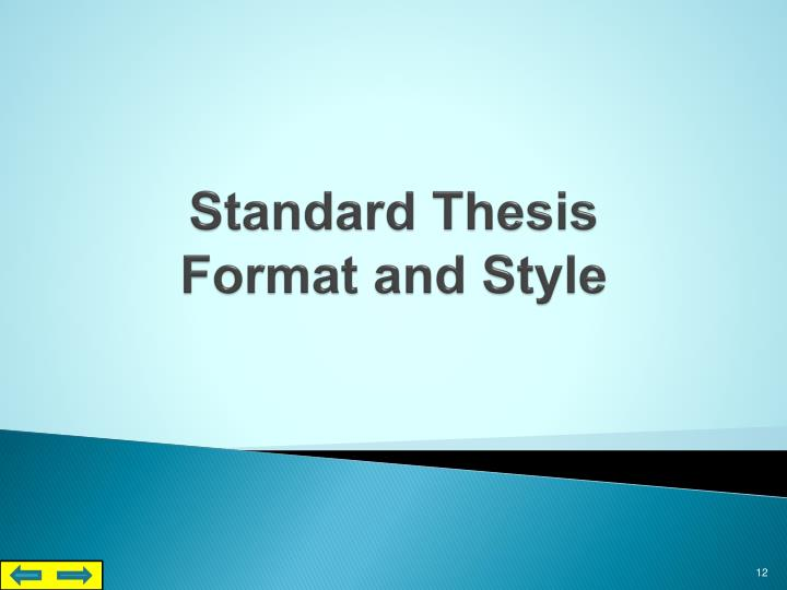 Standard Thesis
