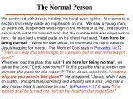 the normal person