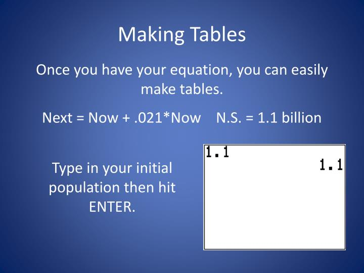 Making Tables