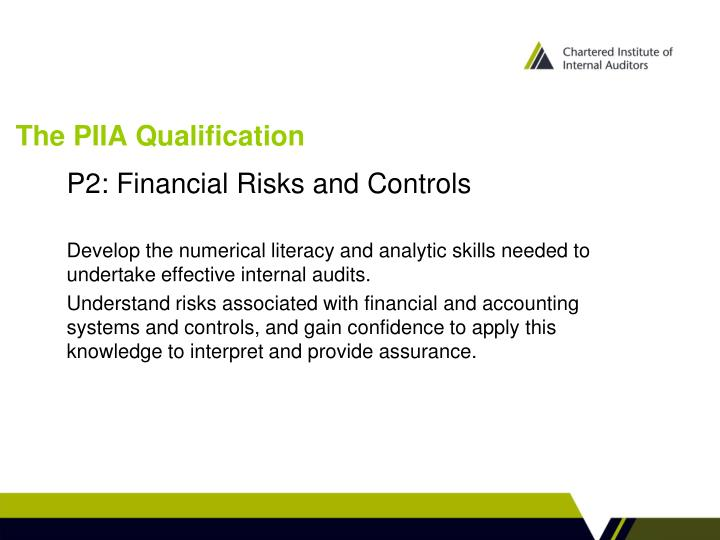The piia qualification1