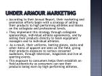 under armour marketing