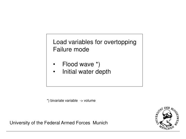 Load variables for overtopping
