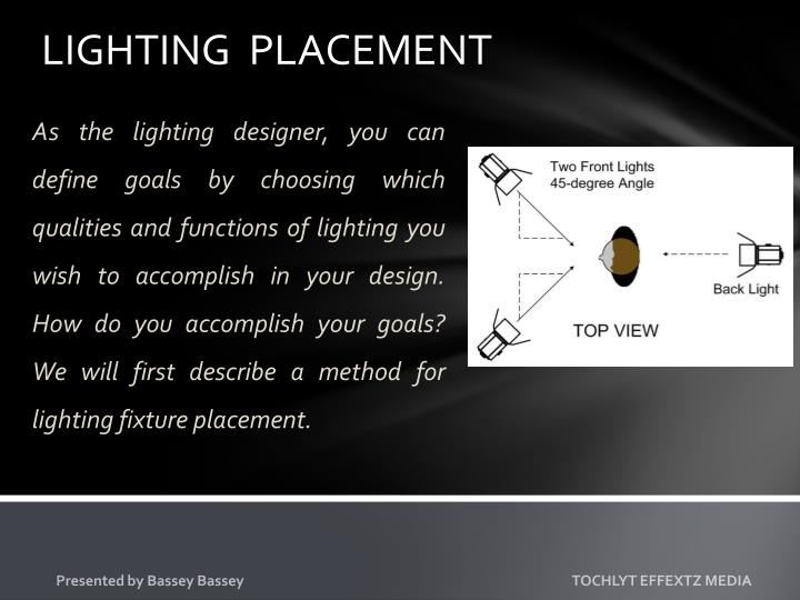 LIGHTING  PLACEMENT