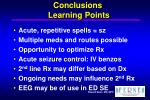 conclusions learning points