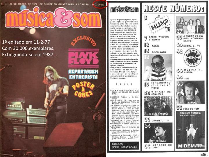 1º editado em 11-2-77