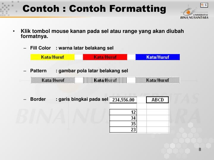 Contoh : Contoh Formatting