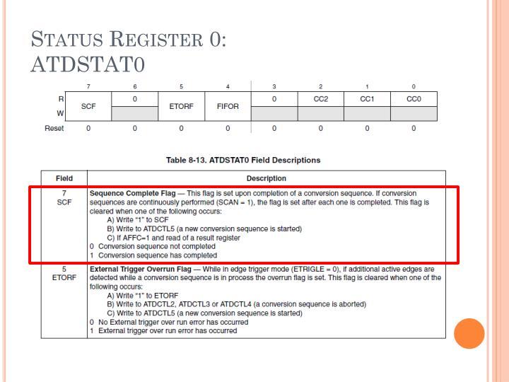 Status Register 0: