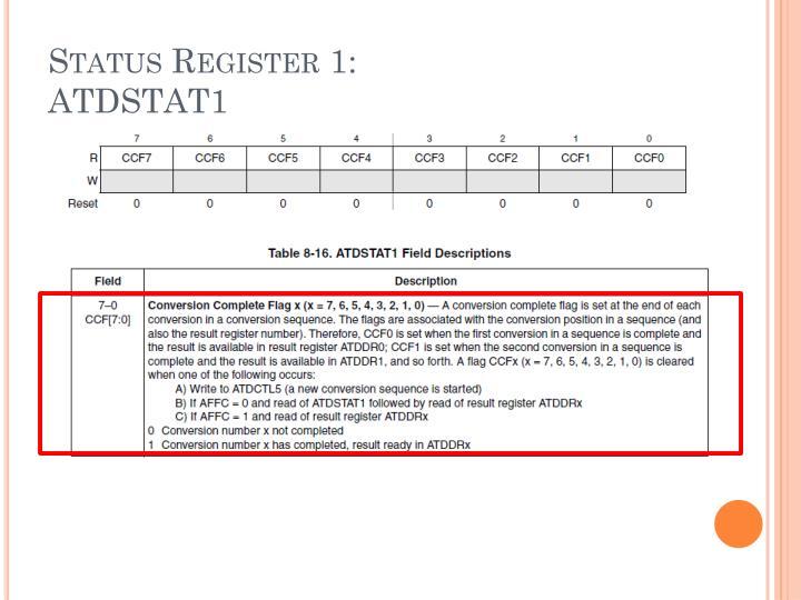 Status Register 1: