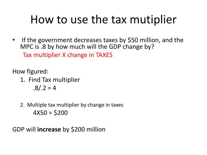 How to use the tax