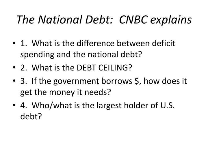 The National Debt:  CNBC explains