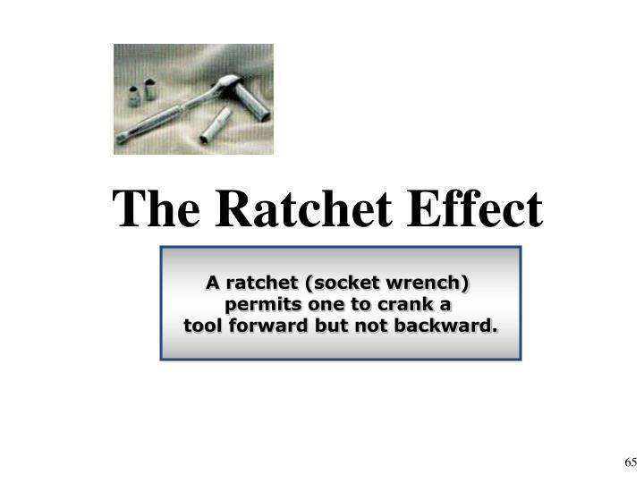 The Ratchet Effect