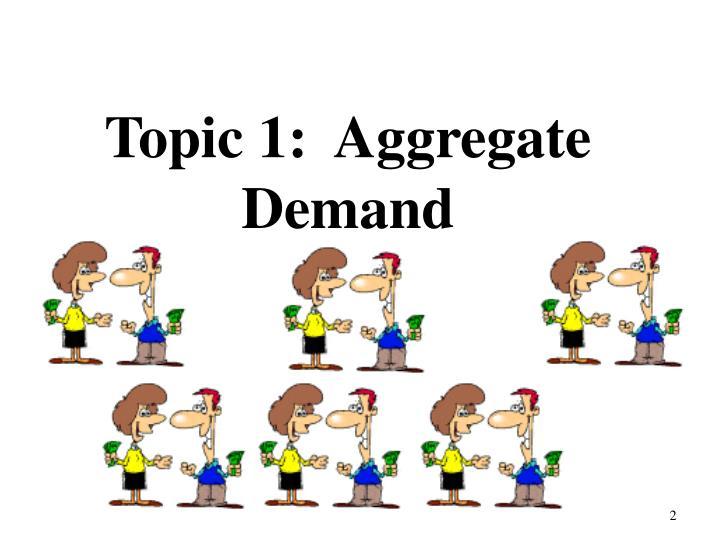 Topic 1 aggregate demand