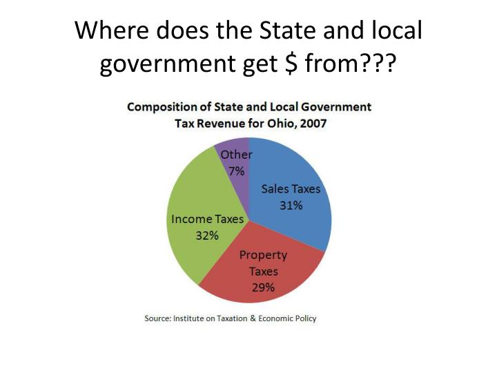 Where does the State and local government get $ from???