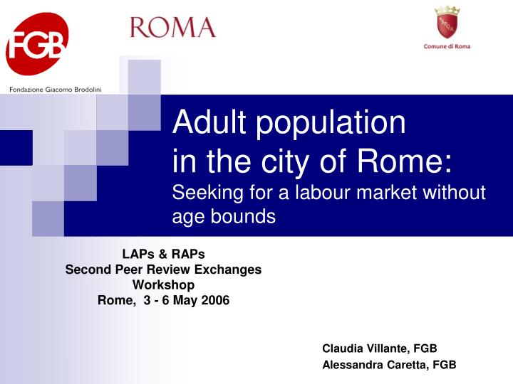 adult population in the city of rome seeking for a labour market without age bounds