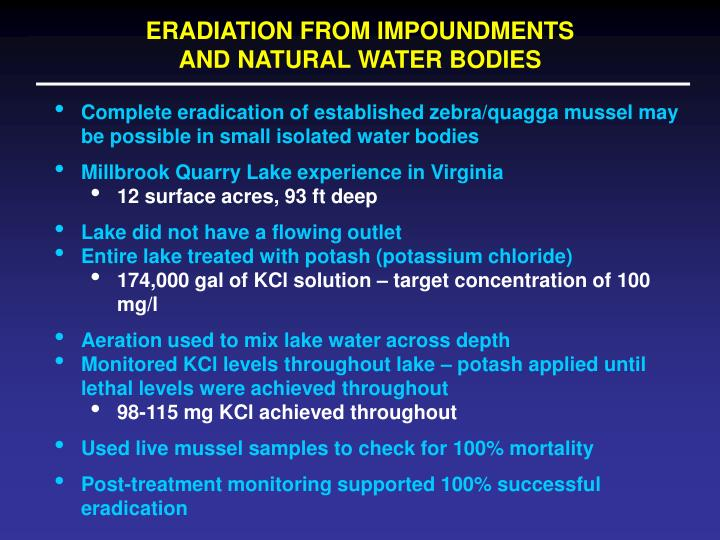 ERADIATION FROM IMPOUNDMENTS