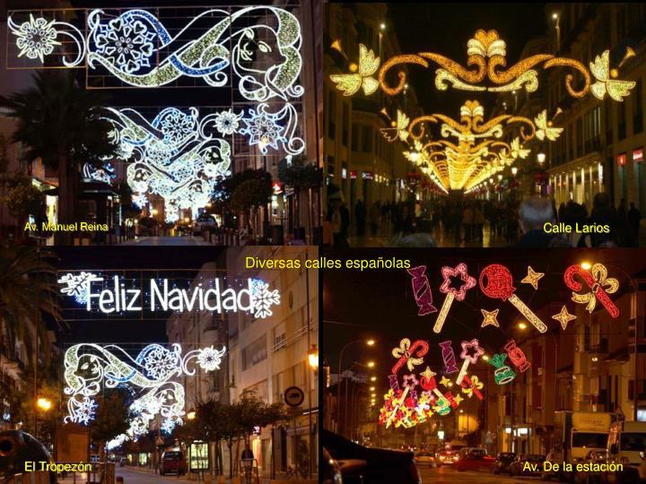 Diversas calles españolas