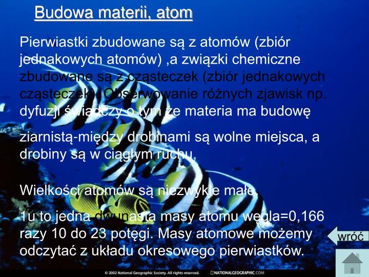 Budowa materii, atom