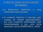 a sociologia da educa o no brasil1