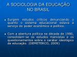 a sociologia da educa o no brasil5