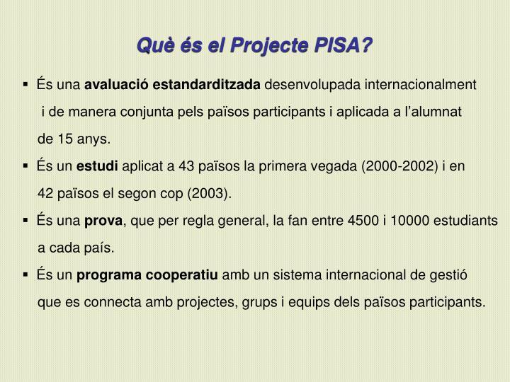 Què és el Projecte PISA?