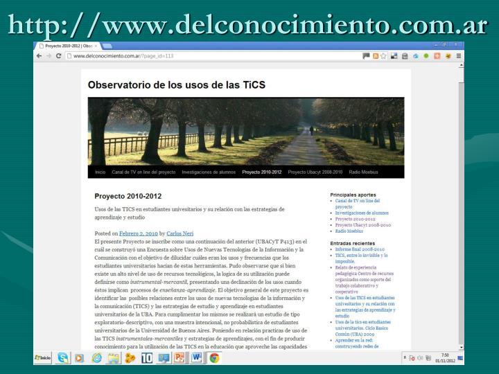 http://www.delconocimiento.com.ar